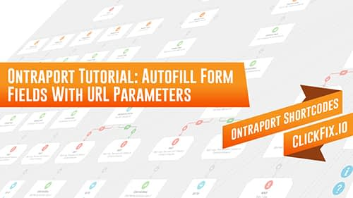Autofill Ontraport Form Fields with URL Parameters