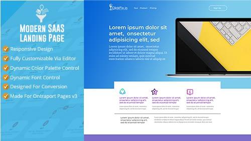 Modern SAAS Landing Page
